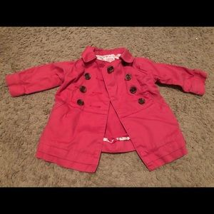 6-12 months pink peacoat